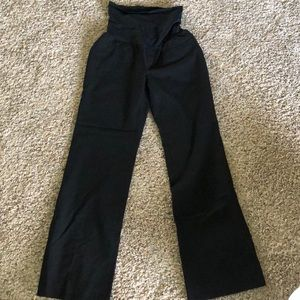 Maternity boot cut black trousers